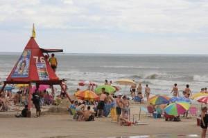 Ontem, Capão da Canoa contava com guaritas ocupadas Foto: Thiago Machado / Divulgação