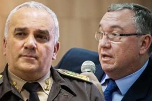 Coronel Alfeu Freitas (E) e o delegado Wondracek dão relatos sobre o que pode ser feito Foto: Montagem / Omar Freitas e Divulgação / Agência RBS