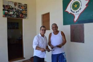 Deputado Nelsinho Metalúrgico com o vice-presidente da ABAMF, Solis Paim