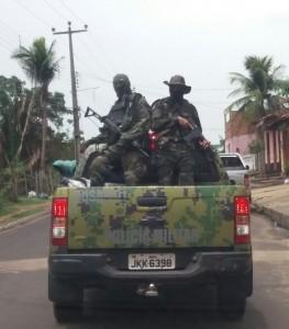 CAVEIRA! Após trabalhos em Icatu e Morros, homens da Cosar já estão a procura dos assaltantes de banco que tocaram o terror em Paraibano e em Alcântara