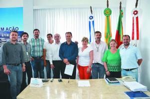 Braulio, no centro, havia sido anunciado em 2015