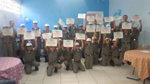 Pelotão Mirim do 1º Regimento de Polícia Montada da Brigada Militar recebeu certificados de 2015 (Divulgação / A Razão)