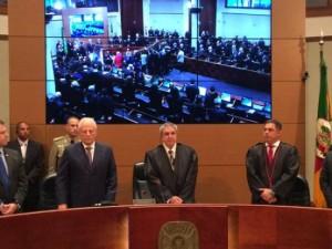 Difini, ao centro, é o novo presidente do Judiciário gaúcho Foto: Mateus Ferraz /Gaúcha