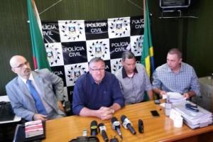 Wondracek concedeu entrevista na segunda-feira sobre prisão de quadrilha especializada em assaltos a banco Foto: Eduardo Torres / Diário Gaúcho
