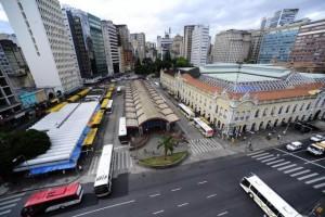 Terminal Parobé, ao lado do Mercado Público, é um dos locais que concentram mais assaltos, segundo a Brigada Militar Foto: Ronaldo Bernardi / Agencia RBS