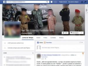 Uma das comunidades no Facebook criadas para pedir que pais postem mais fotos de crianças fardadas tinha mais de 4.500 curtidas nesta quinta-feira (11) (Foto: Reprodução / Facebook)
