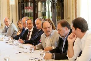 Foto: Luiz Chaves/Palácio Piratini  Dívida com a União foi foco da reunião do governador José Ivo Sartori com seu secretariado