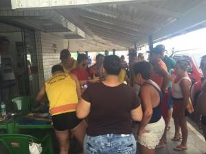 Foto: Gabriela da Silva/GES-Especial  Bebê ficou sem respirar e foi salva pelos salva-vidas da guarita 145 de Tramandaí