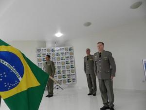 Major Pereira Martins passou o comando para o major Oberdan do Amaral Silva /Arquivo/FN