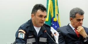 Coronel Elias Miler da Silva defendeu a proposta: na opinião dele, o Código de Trânsito erra ao prever a fiscalização por agentes civis