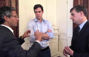 Antunes e Loureiro se reuniram com Biolchi, na Casa Civil | Foto: Cristiano Guerra / AL / CP