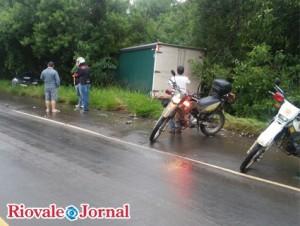 Acidente na BR-153 em Cachoeira deixou agente penitenciário ferido Crédito: Divulgação/Brigada Milita