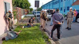 Um dos criminosos foi baleado na perna Foto: Divulgação CRPOLitoral