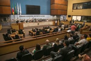 Representantes da área da segurança, do Judiciário, do Ministério Público e do Consumidor participaram da instalação do Comitê , na manha de terça-feira| Foto: Joana Berwanger/Sul21