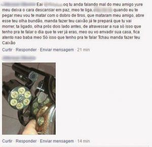 Para preservar as identidades, o Diário apagou os nomes do policial e do agressor e também os palavrões do texto Foto: Reprodução / Reprodução