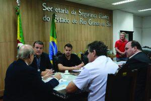 Prefeito pediu mais policiais ao secretário de segurança do Estado /Rodrigo Ziebell/SSP