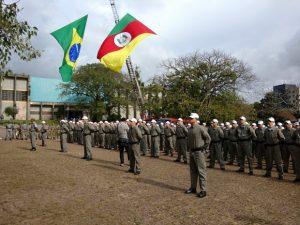 PMs foram apresentados nesta segunda-fiera (30) em Porto Alegre (Foto: Secretaria da Segurança Pública/Divulgação)