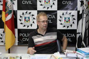 Delegado Regional de Polícia, Sandro Meinerz, é um dos responsáveis pela criação da Delegacia de Homicídios (Deivid Dutra / A Razão)