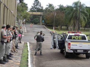 Treinamento em Santiago visa qualificar a tropa da Brigada Militar (Divulgação / A Razão)