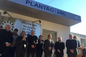 Governador participou da inauguração da Delegacia de Polícia de Pronto Atendimento de Farroupilha Foto: Roni Rigon / Agência RBS / Agência RBS
