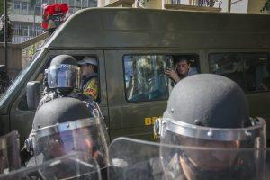 Brigada Militar deteve mais de 40 pessoas em ação na manhã desta quarta-feira | Foto: Joana Berwanger/Sul21