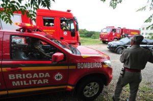 Em 2014, bombeiros deslocaram três viaturas e oito profissionais para combater um incêndio que não existia próximo de uma escola no bairro Nova Santa Marta em Santa Maria Foto: Jean Pimentel /Agencia RBS