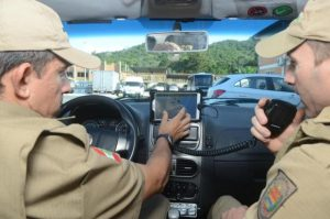 Em Santa Catarina, desde que foi implantado em abril de 2015, o aplicativo já reduziu em 60% o tempo em registros de ocorrências em comparação com os municípios que não utilizam o recurso.  Foto: Marcos Porto / Agencia RBS