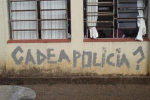 O vandalismo foi flagrado por câmeras de monitoramento da escola no dia 7 de julho Foto: Polícia Civil / Divulgação