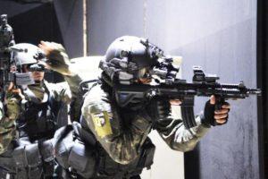 Simulação antiterror das forças especiais do exército brasileiro em Goiânia, em preparação para a Olimpíada Foto: Gilberto Alves / Fotos públicas