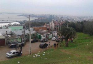 Grande mobilização policial após agente ter sido baleado Foto: Tiago Bitencourt /Rádio Farroupilha