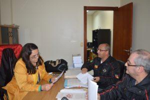 Juiza Dra. Maria Emília Moura da Silva conversou com diretores da ABAMF