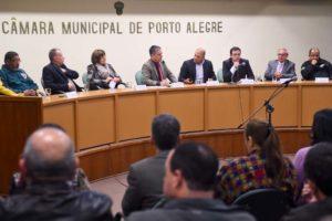 ABAMF e ASSTBM estiveram na mesa diretora de trabalho, convidados pelo presidente da CMPA, Cássio Trogildo