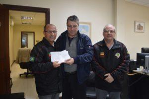 Leonel Lucas, Juiz- presidente do TJM/RS Dr. Fernando Guerreiro de Lemos e Ricardo Agra