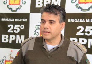 Foto: Diego da Rosa/GES Tenente-coronel Ronie de Oliveira Coimbra assumiu comando do 25o BPM há duas semanas