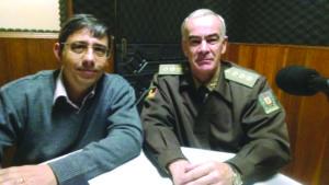 Delegado Marcelo e coronel Mantovani: integração da Polícia e Brigada no combate ao crime na região | Foto: Guilherme Baptista/FN