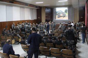 Atividade conta com a presença de 22 oficiais da Brigada Militar provenientes de todas as regiões do Rio Grande do Sul. Foto Gabriel Haesbaert / A Razão