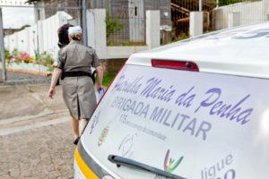 PORTO ALEGRE, RS, 14.10.13: Patrulha Maria da Penha em ação na Lomba do Pinheiro. Foto: Claudio Fachel/Palácio Piratini
